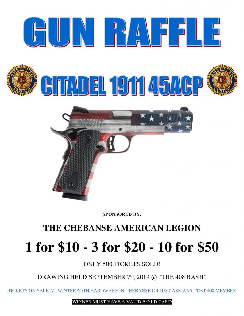 Gun Raffle - Citadel 1911 45ACP - Village of Chebanse, IL