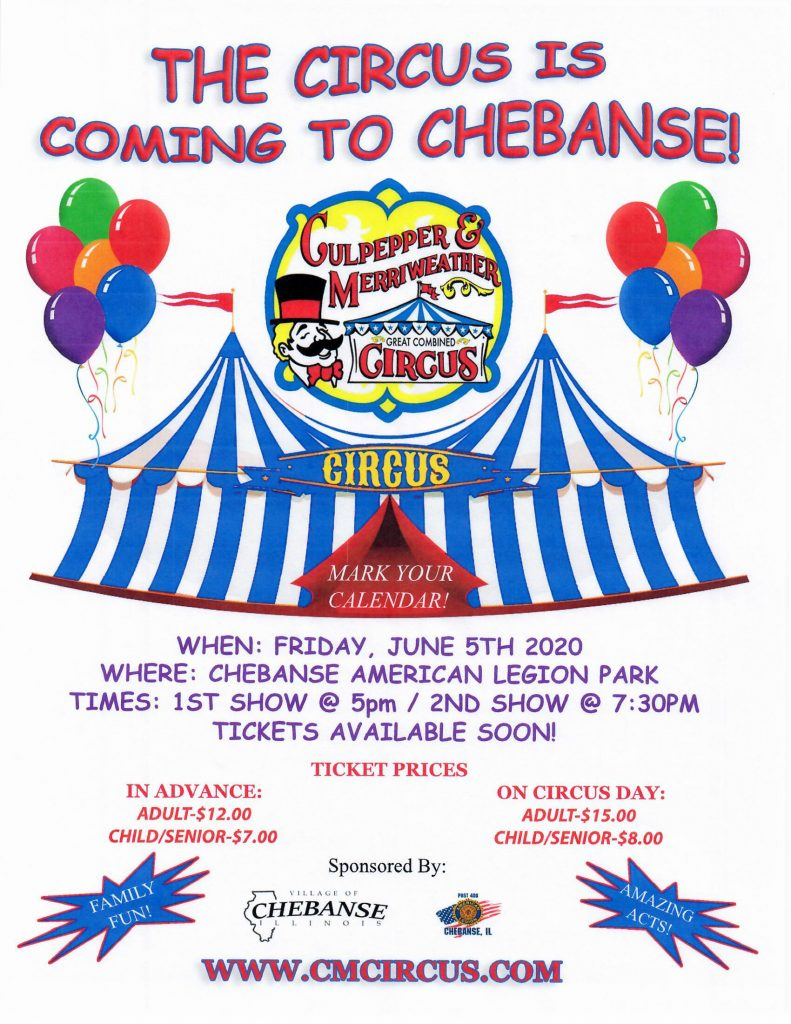 The Circus is coming to Chebanse!